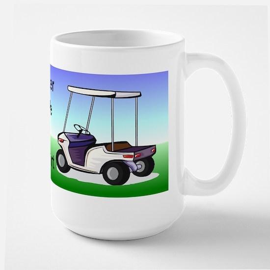 Golf cart Large Mug
