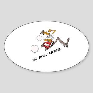 Bag 'em Sticker (Oval)