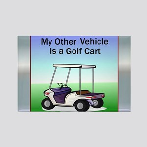 Golf cart Rectangle Magnet