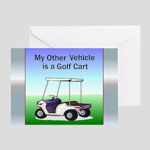 Golf cart Greeting Card