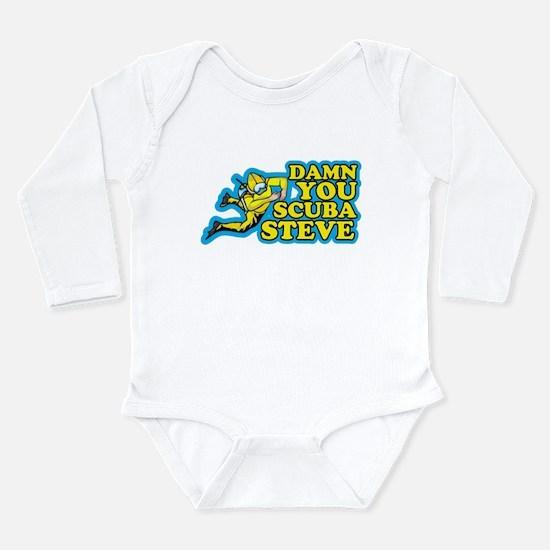 Damn You Scuba Steve Long Sleeve Infant Bodysuit