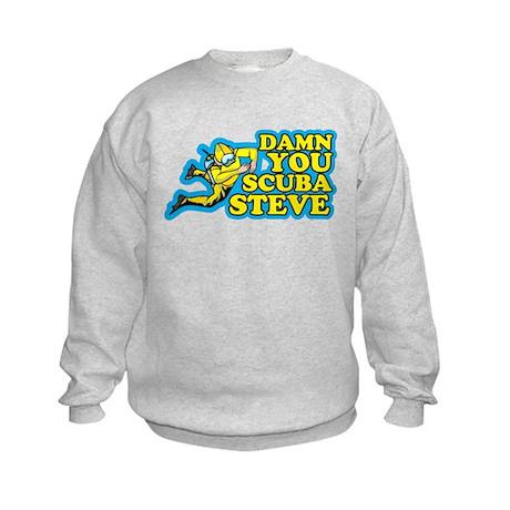 Damn You Scuba Steve Kids Sweatshirt