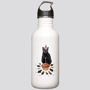 Black Cat Birthday Rats Stainless Water Bottle 1.0