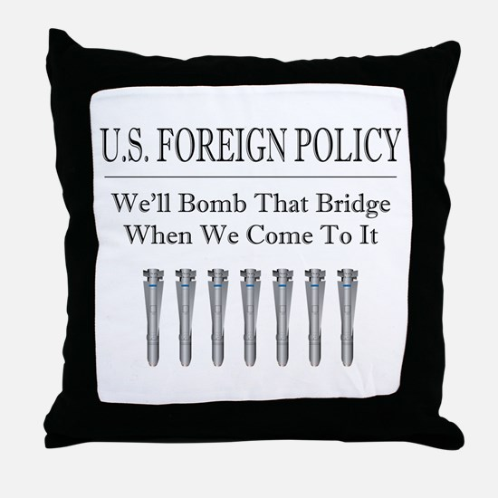 Foreign Policy Throw Pillow