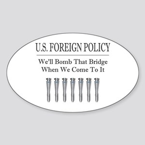 Foreign Policy Oval Sticker