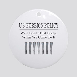 Foreign Policy Ornament (Round)