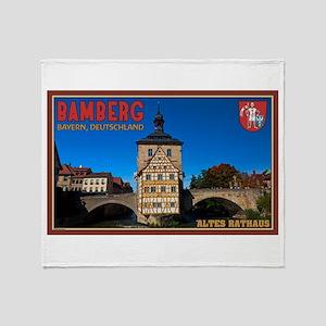 Bamberg Altes Rathaus L Throw Blanket