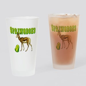 Springboks Rugby Drinking Glass