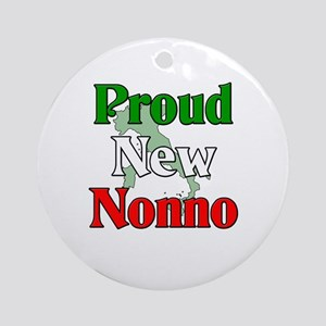 Proud New Nonno Ornament (Round)