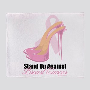 Stand Up Against Breast Cance Throw Blanket