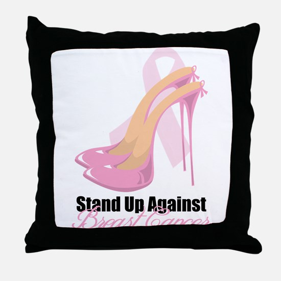 Stand Up Against Breast Cance Throw Pillow