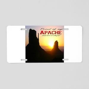 Apache Heritage Aluminum License Plate