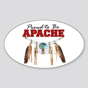 Proud to be Apache Sticker (Oval)