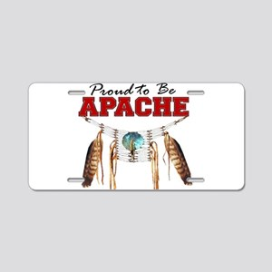 Proud to be Apache Aluminum License Plate