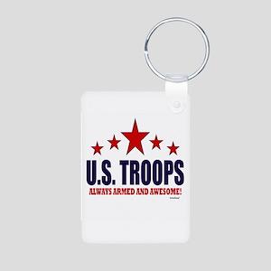 U.S. Troops Always Armed A Aluminum Photo Keychain
