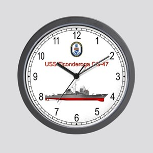 USS Ticonderoga CG-47 Wall Clock
