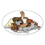 Adopt Sticker (Oval 10 pk)
