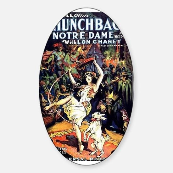 Hunchback of Notre Dame Sticker (Oval)
