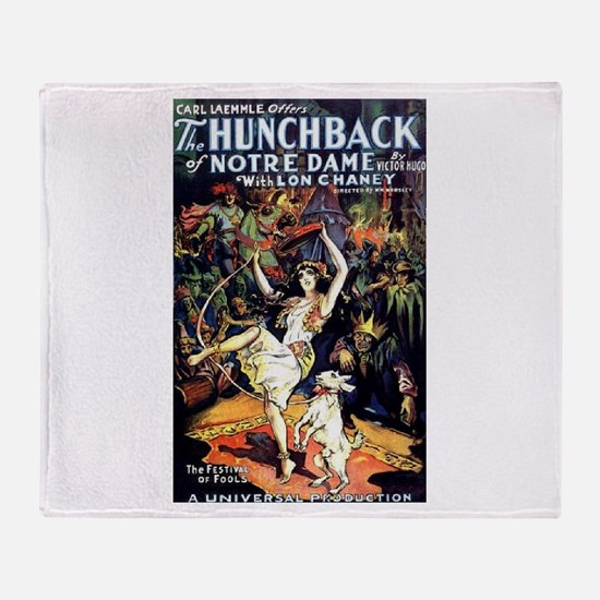 Hunchback of Notre Dame Throw Blanket