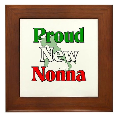 Proud New Nonna Framed Tile