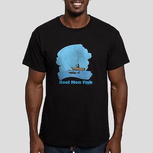 Reel Men Fish Men's Fitted T-Shirt (dark)