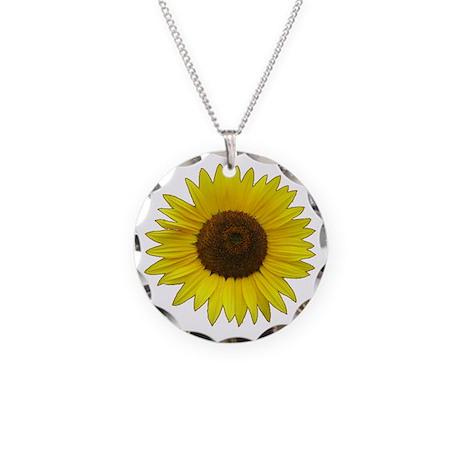 Helaine's Sunflower Necklace Circle Charm