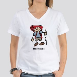 Cute Take a Hike Women's V-Neck T-Shirt