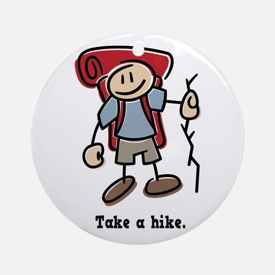 Cute Take a Hike Ornament (Round)