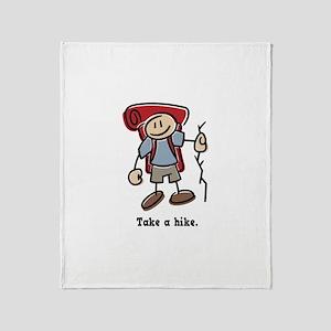 Cute Take a Hike Throw Blanket