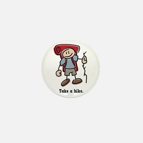 Cute Take a Hike Mini Button