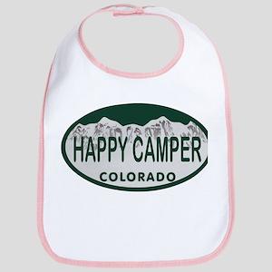 Happy Camper Colo License Plate Bib