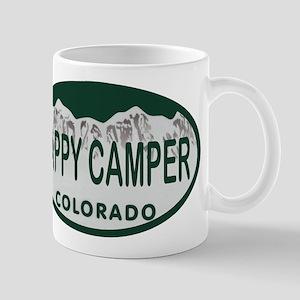 Happy Camper Colo License Plate Mug