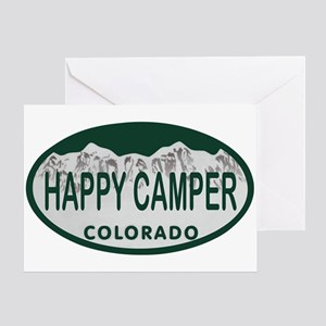 Happy Camper Colo License Plate Greeting Card