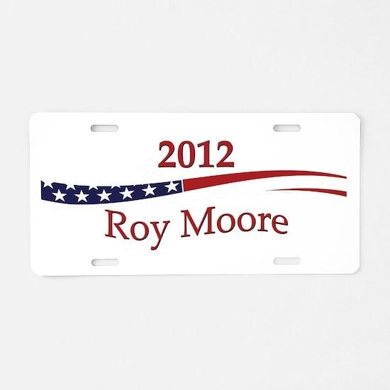 Roy Moore Aluminum License Plate