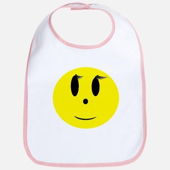 Yellow Smiley Face Bib