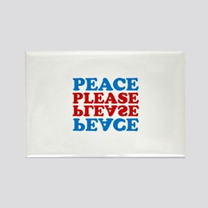 peace please (blue/red) Rectangle Magnet