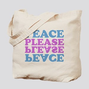 peace please (blue/pink) Tote Bag