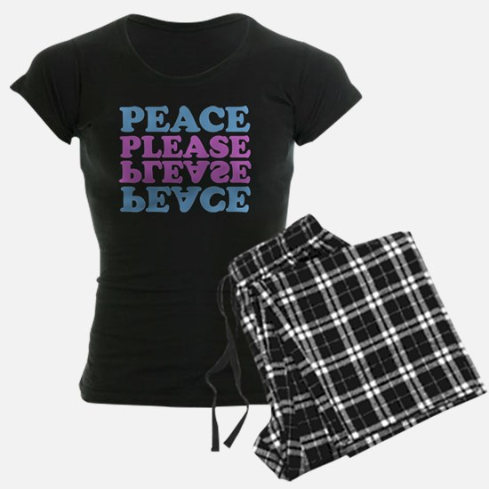 peace please (blue/pink) Pajamas