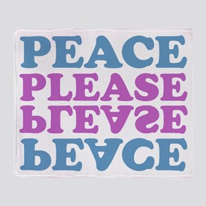 peace please (blue/pink) Throw Blanket