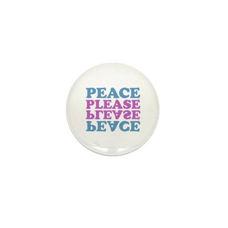 peace please (blue/pink) Mini Button (10 pack)