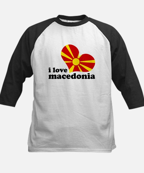 i love macedonia Kids Baseball Jersey