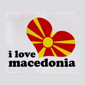 i love macedonia Throw Blanket