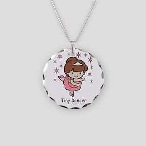 Tiny Dancer Necklace Circle Charm