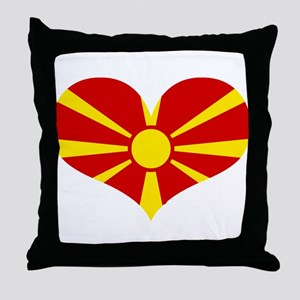 macedonian heart Throw Pillow