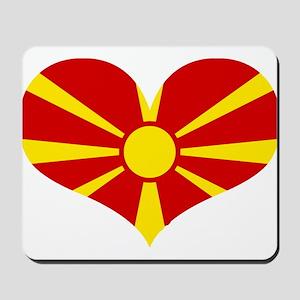 macedonian heart Mousepad