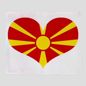 macedonian heart Throw Blanket