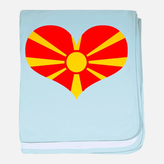 macedonian heart baby blanket