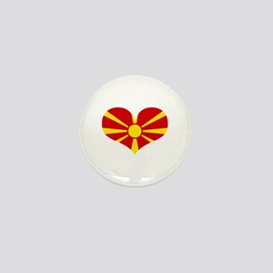 macedonian heart Mini Button