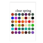 color analysis cards (Pack of 8) clear spring