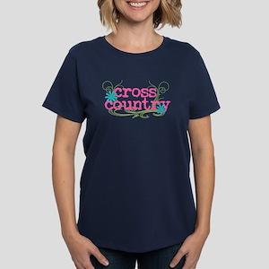 Cross Country Pink Women's Dark T-Shirt
